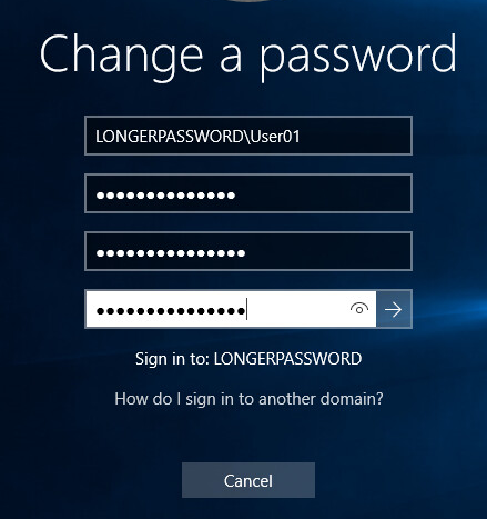 How to Increase the Minimum Character Password Length (15+)
