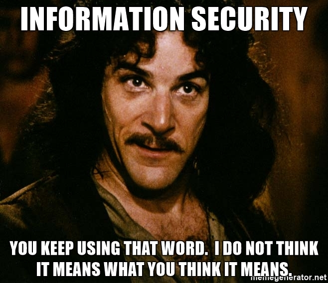 Image result for information security meme