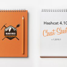 Hashcat 4.10 Cheat Sheet v 1.2018.1