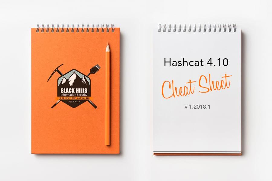 Hashcat 4 10 Cheat Sheet v 1 2018 1 - Black Hills