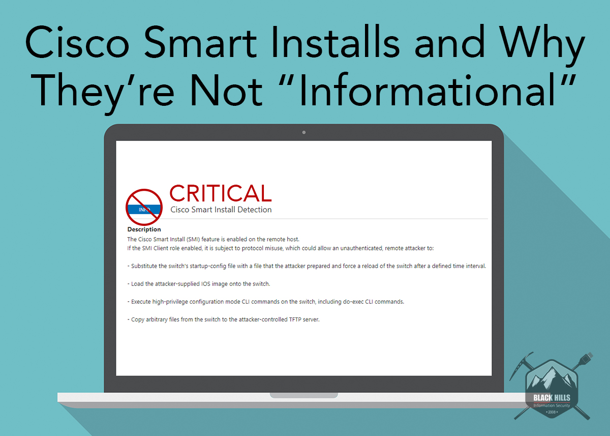 """Cisco Smart Installs and Why They're Not """"Informational"""