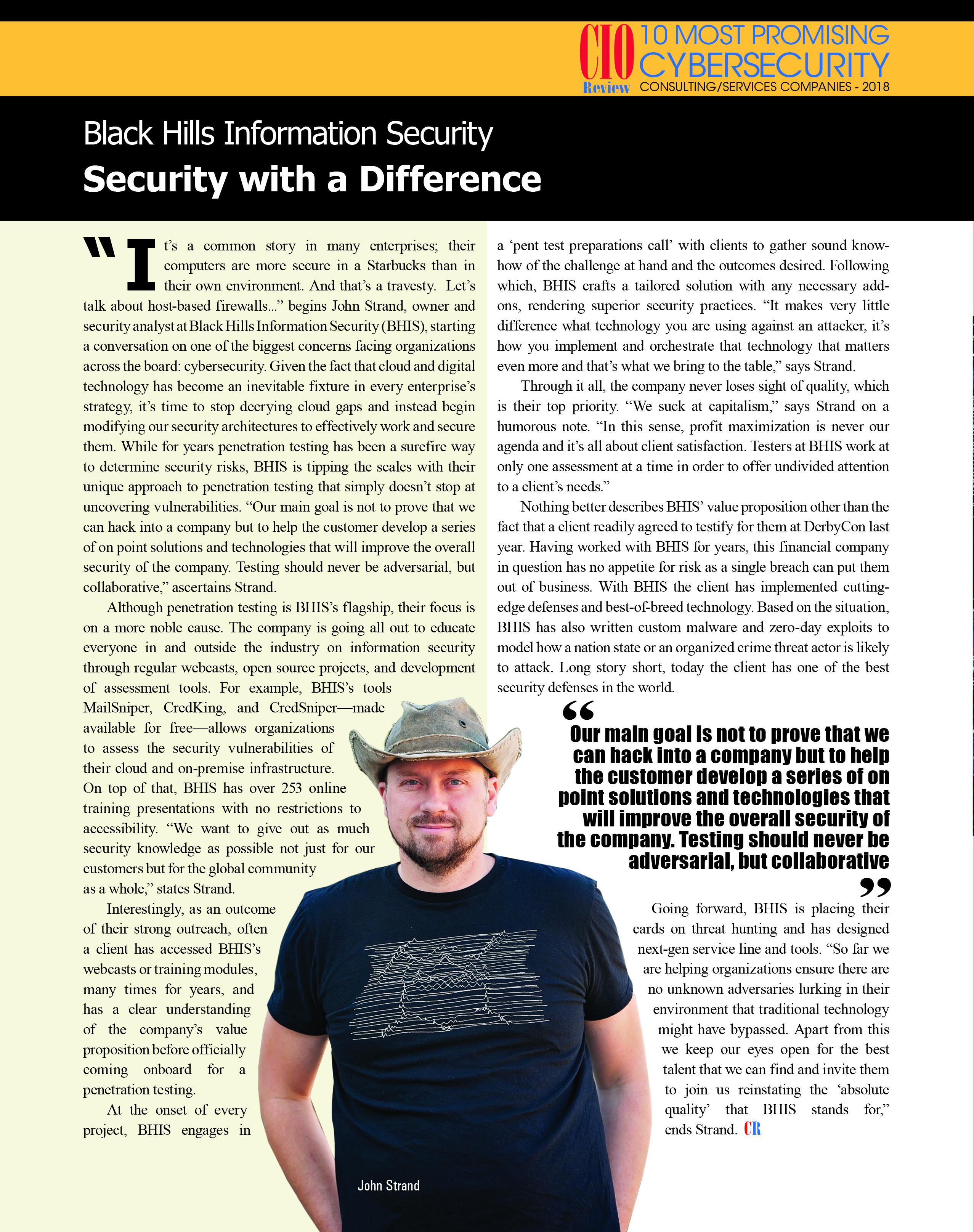 Black Hills Information Security in CIO Review