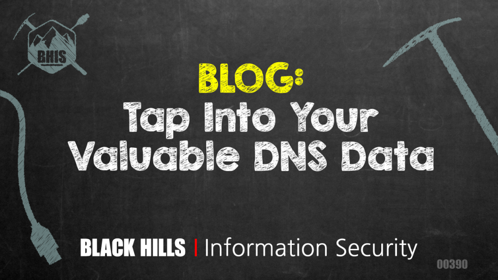 Tap Into Your Valuable DNS Data - Black Hills Information