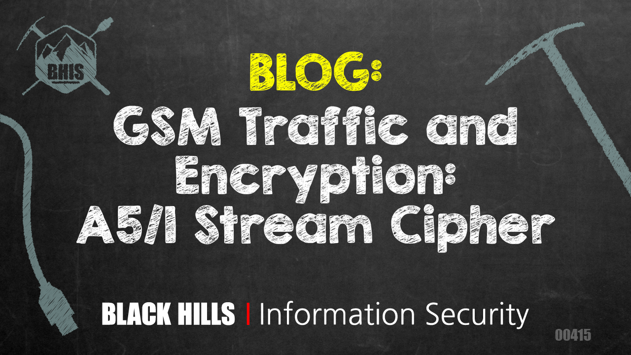 GSM Traffic and Encryption: A5/1 Stream Cipher