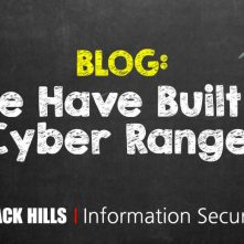 We Have Built a Cyber Range!