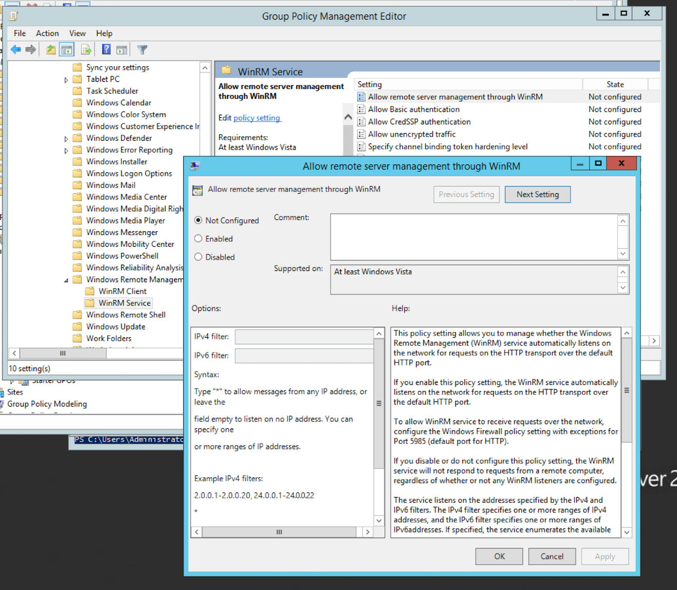 End-Point Log Consolidation with Windows Event Forwarder - Black