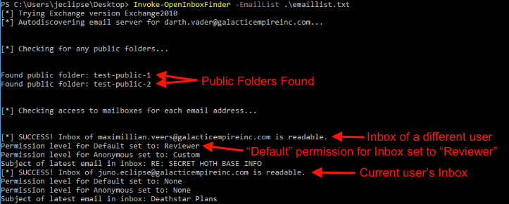 Abusing Exchange Mailbox Permissions with MailSniper - Black